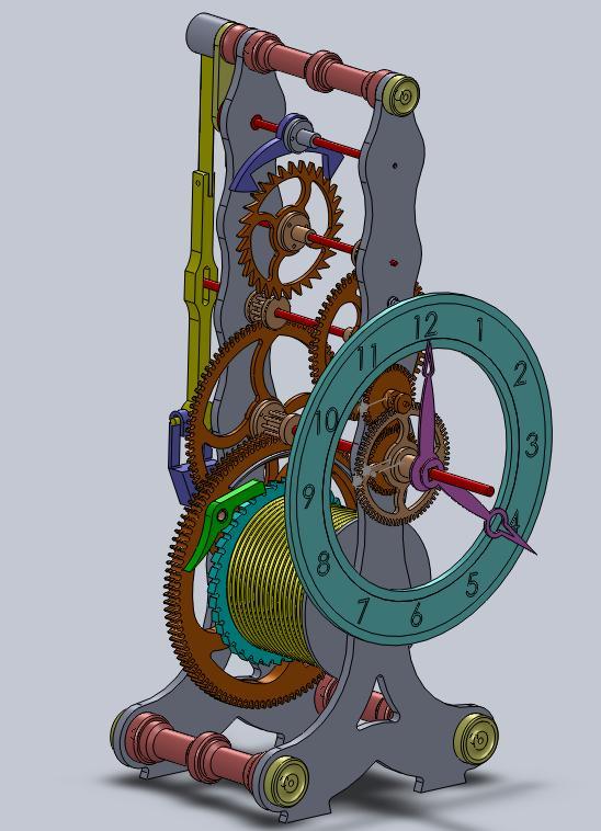 3D CAD Skeleton Clock